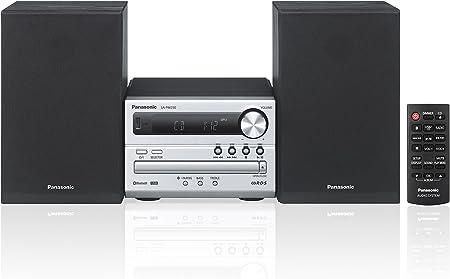 Panasonic SC-PM250EF-S sistema de audio doméstico - Microcadena (Negro, Plata, Frente, De 2 vías, 20W, 6 Ohmio, MF)