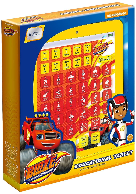 Blaze y los Monster Machines Tableta educativa bilingüe con actividades color rojo