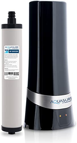 Aquasure Dash Series Countertop Drinking Water Filtration System with 0.5 Micron Micro-Ceramic Carbon Block Black