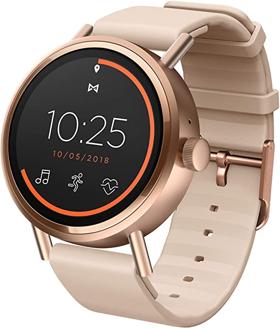 Misfit Vapor 2 Stainless Steel and Silicone Touchscreen Smartwatch Color: Rose Gold Pink (MIS7104)