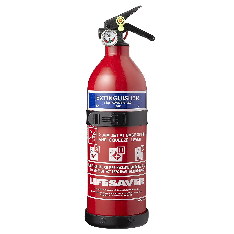 Kidde KS1KG Multi-Purpose Fire Extinguisher, Red, 1 kg, 285 x 95 x 125 mm