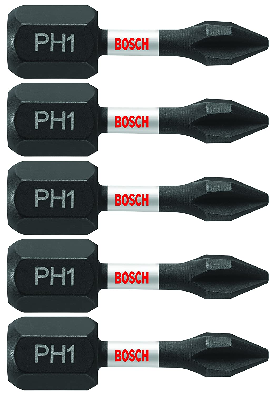 Phillips #1 Power Bit Bosch ITPH1601 Impact Tough 6 In