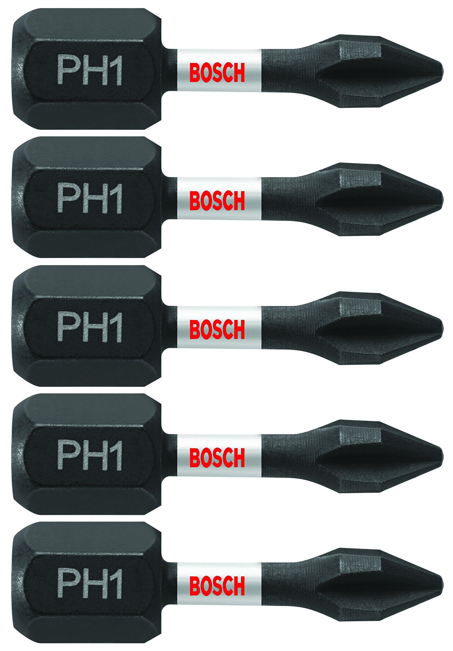 Bosch ITPH1105 5 Pc. Impact Tough 1 In. Phillips #1 Insert Bits