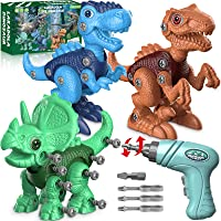 Dinosaur Toys for 3 4 5 6 7 Year Old Boys, Take Apart Dinosaur Toys for Kids 3-5 5-7 STEM Construction Building Kids…