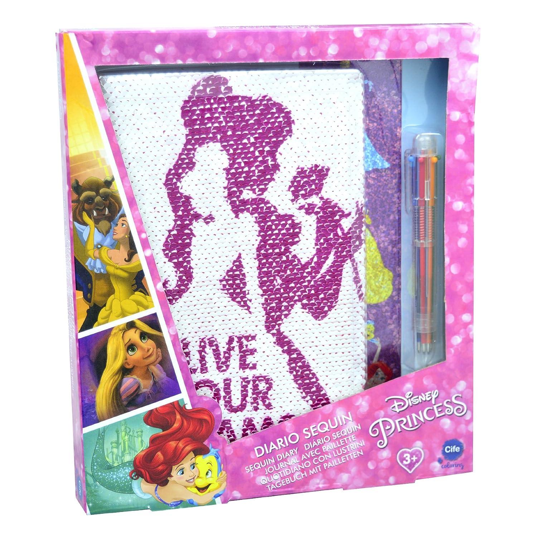 Disney Princesas Diario Sequin con lentejuelas reversibles (Cife 41275)