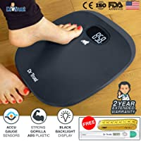 Dr Trust ABS Absolute Grey Personal Digital Scale Weighing Machine for Body Weight with Digital Thermometer and Measuring Tape