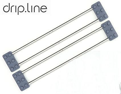 Sanni Shoo - drip.line 3 in 1 - multifunktionaler Abtropfer für die Küche –  Größe verstellbar - Design Abtropfgestell Untersetzer Spültuchhalter ...