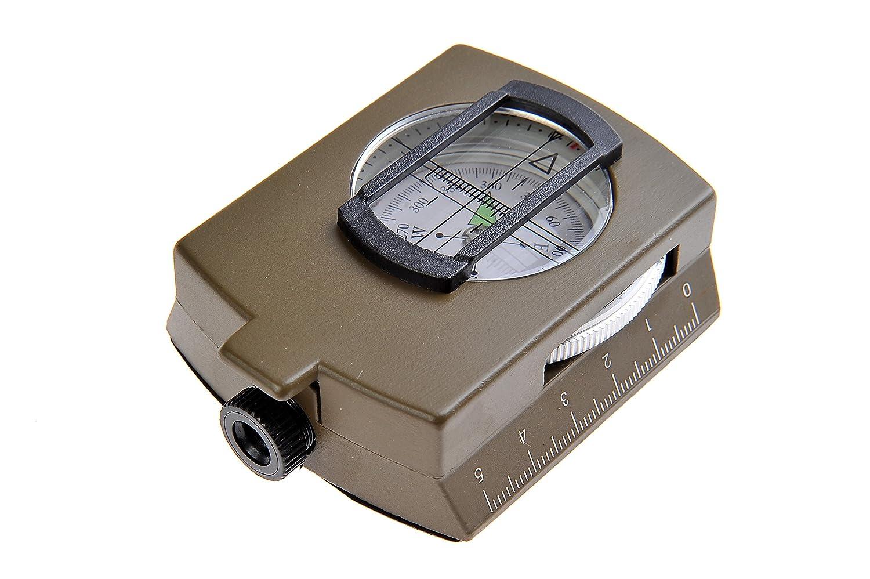 Huntington, brújula militar/brújula de visor MG1, líquido amortiguado profesionalmente, carcasa hecha completamente de metal, sistema de prismas/lentes, ...