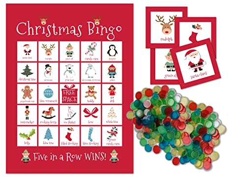 Christmas Bingo Cards.Christmas Bingo Holiday Party Game For All Ages Great For Kids And Adults For 24 Players