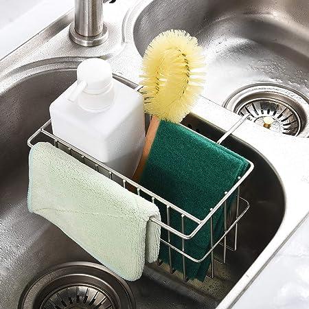 Amazon.com: Soporte para esponja de cocina, soporte para ...