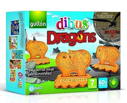Gullón Dibus Dragons Galleta Desayuno y Merienda - Paquete de 6 x 50 gr - Total