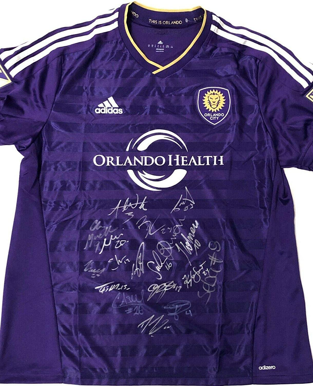 Orlando City Sc 2019 Team Signed Soccer Jersey W Coa Mls Futbol Xl Adidas Nani A Autographed Soccer Jerseys At Amazon S Sports Collectibles Store