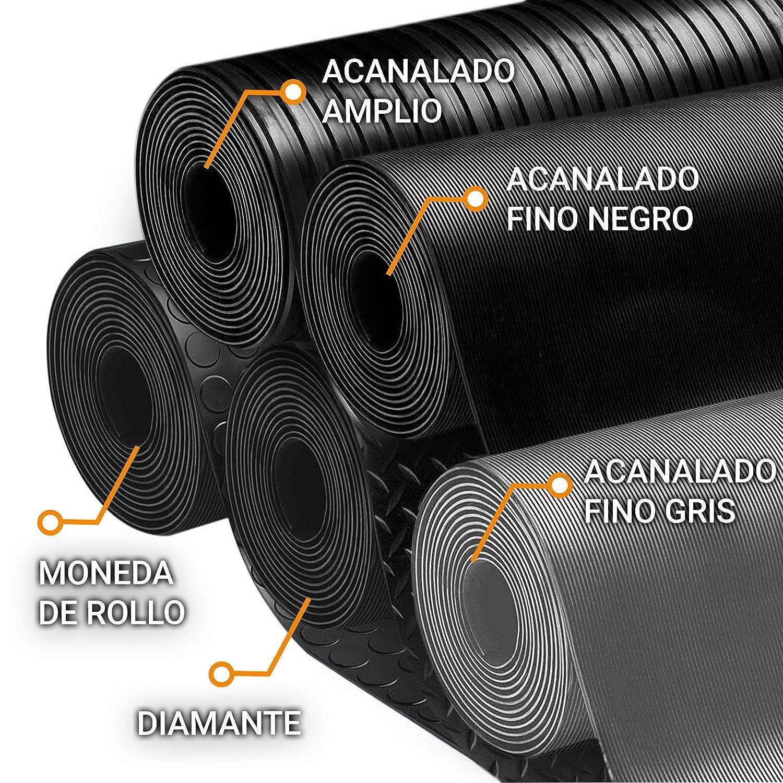 120x700 cm Suelo de Goma Antideslizante etm Rollos Caucho para Suelo 3mm Acanalado Amplio Aislamiento T/érmico y Ac/ústico Alfombras de Caucho Resistentes