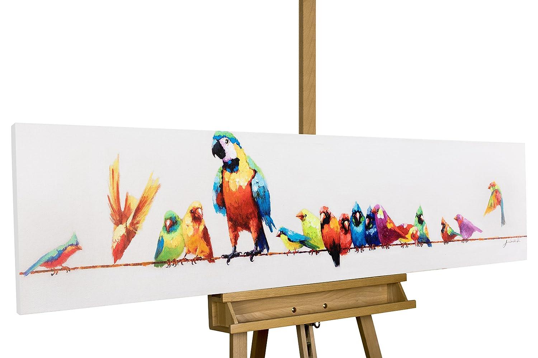 KunstLoft Acryl Gemälde \'Paradiesvögel\' 150x30cm   original ...