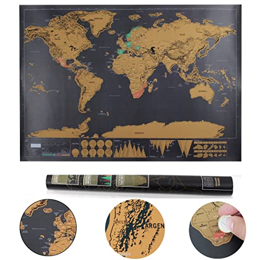 Llean world scratch map scratch map deluxe xxl poster memories of llean world scratch map scratch map deluxe xxl poster memories of old travel for every globetrotter black 82 x 60 cm amazon office products publicscrutiny Image collections