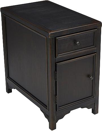 172e7703ca6f94 Ashley Furniture Signature Design - Gavelston Chair Side End Table -  Rectangular - Rubbed Black Finish