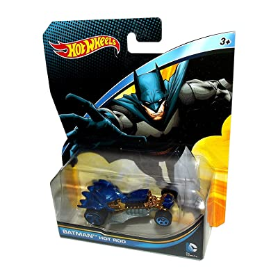 Hot Wheels, 2015 DC Comics Character Car, Batman Hot Rod Die-Cast Vehicle, 1:64 Scale: Toys & Games