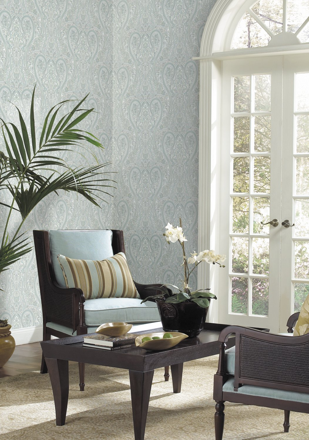 Decorate By Color Green Pastel Faux Finish Wallpaper BC1581283