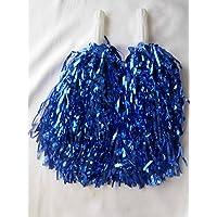 5 paia di pompon da cheerleader, per feste di addio al nubilato e costumi di Carnevale, colore: blu