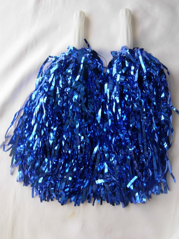 Lot de 5 paires de pompons pour costume de pom-pom girl et enterrement de vie de jeune fille - Bleu WG