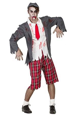 Disfraz Colegial Zombie M-L: Amazon.es: Juguetes y juegos