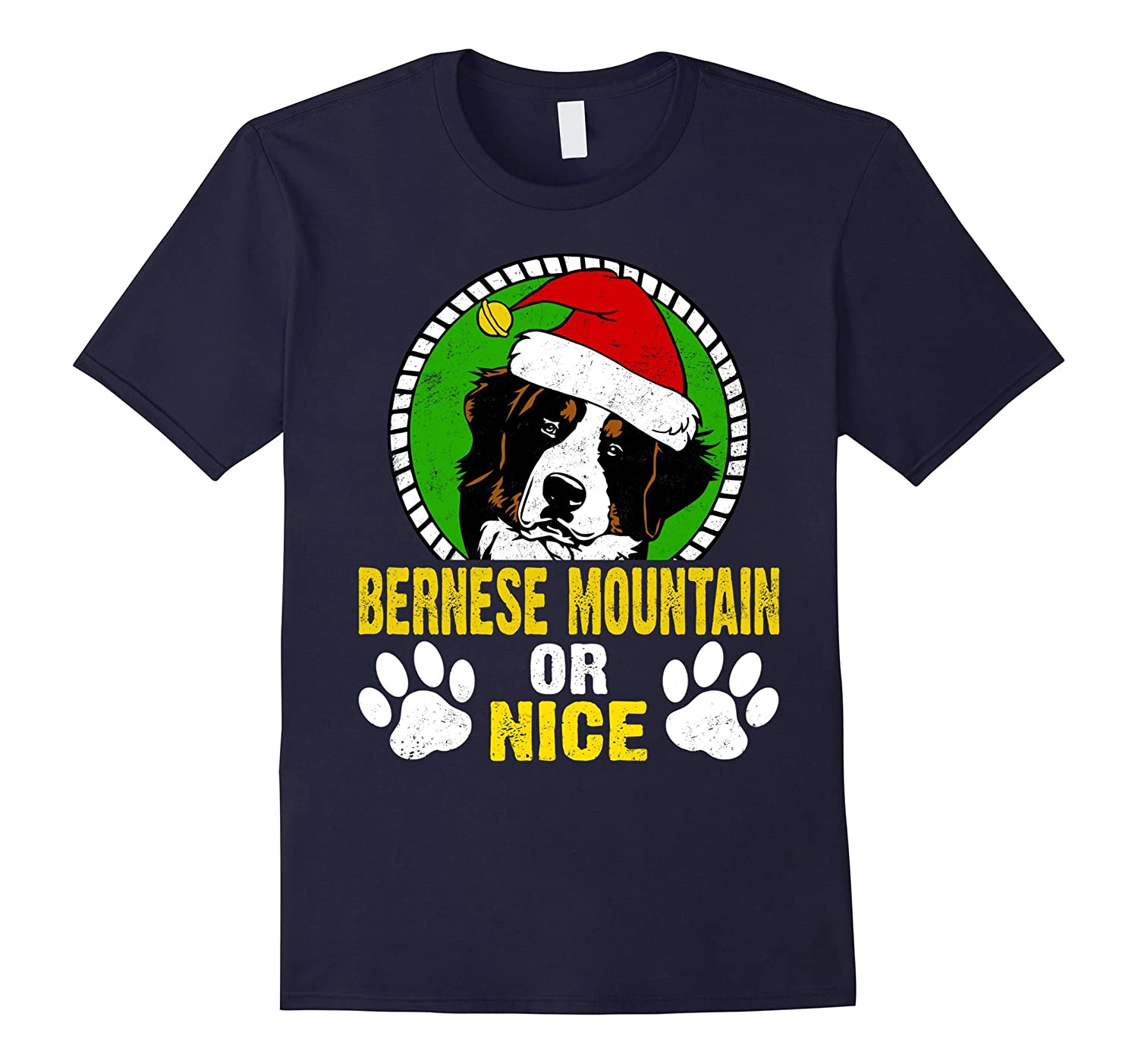 Bernese Mountain Or Nice Funny Dog Lovers Christmas T-Shirt-ANZ