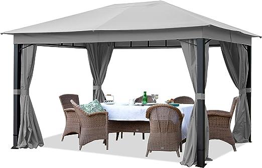 TOOLPORT Cenador de jardín 3x4m ALU Premium 280g/m² Lona de Techo ...