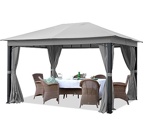 Sojag Messina Carpa, aluminio, 298 x 363 cm, carpa de verano y cenador con tejado rígido: Amazon.es: Jardín
