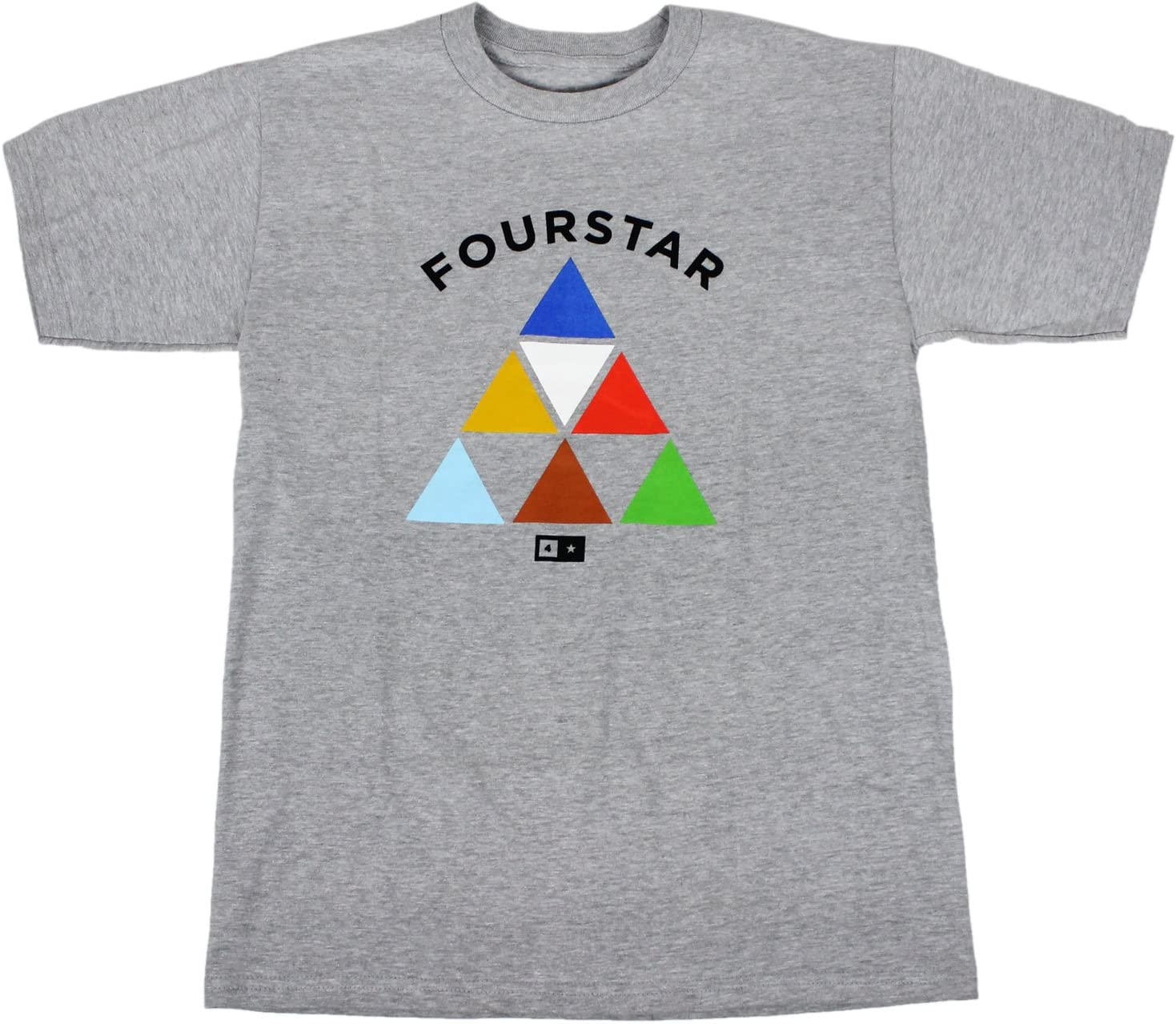 Fourstar Skate camiseta triángulos gris tamaño S: Amazon.es ...