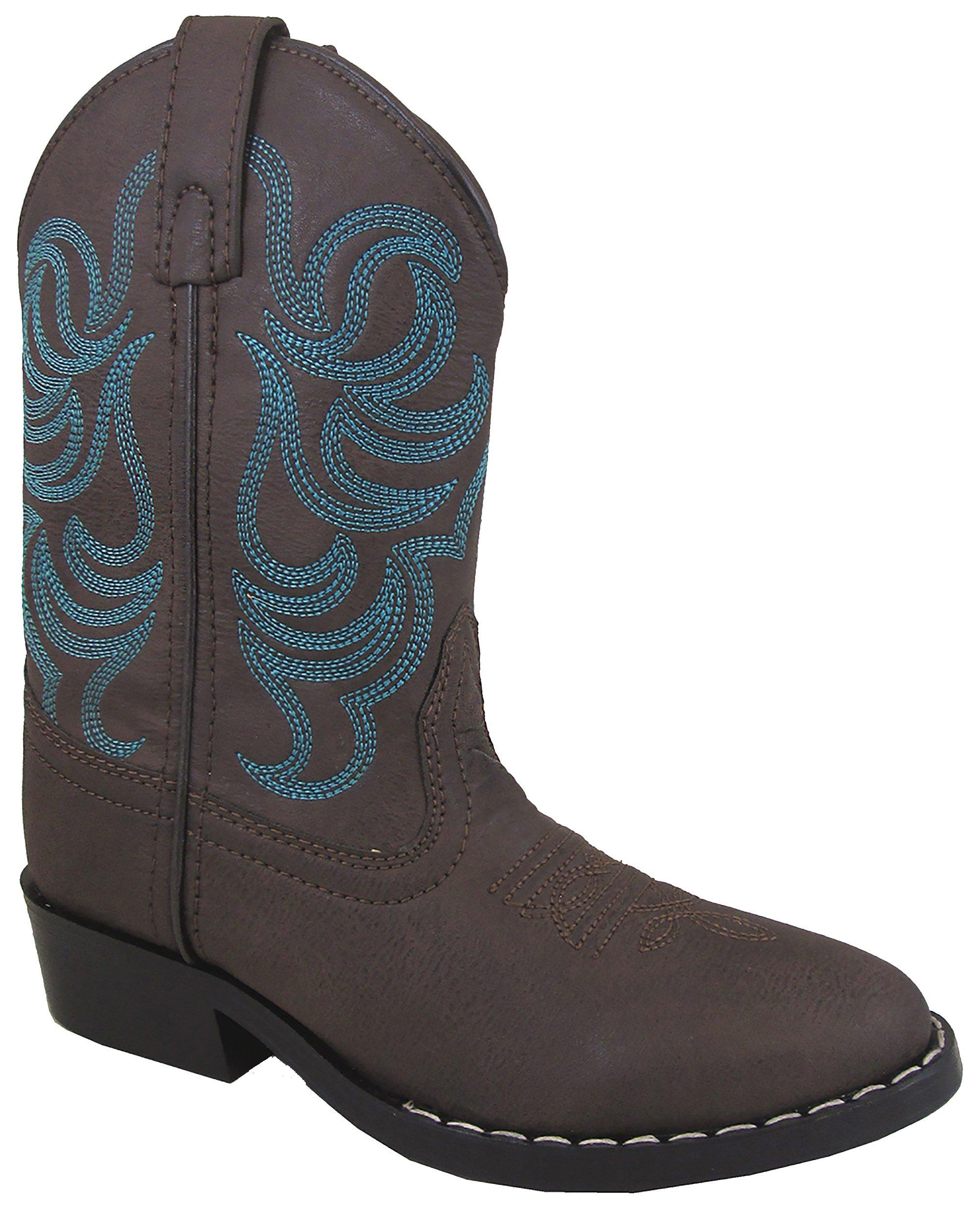 Smoky Mountain Boys Brown Blue Stitch Monterey Western Cowboy Boots