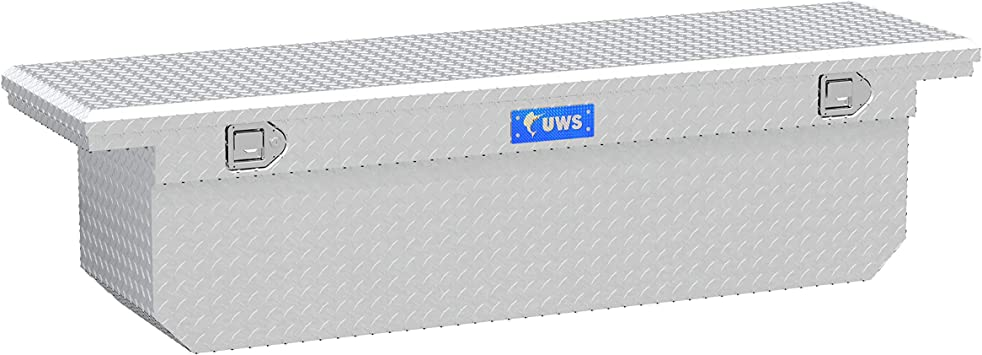 UWS TBSD-72-A-LP 72-Inch Aluminum Deep Angled Truck Tool Box with Low Profile