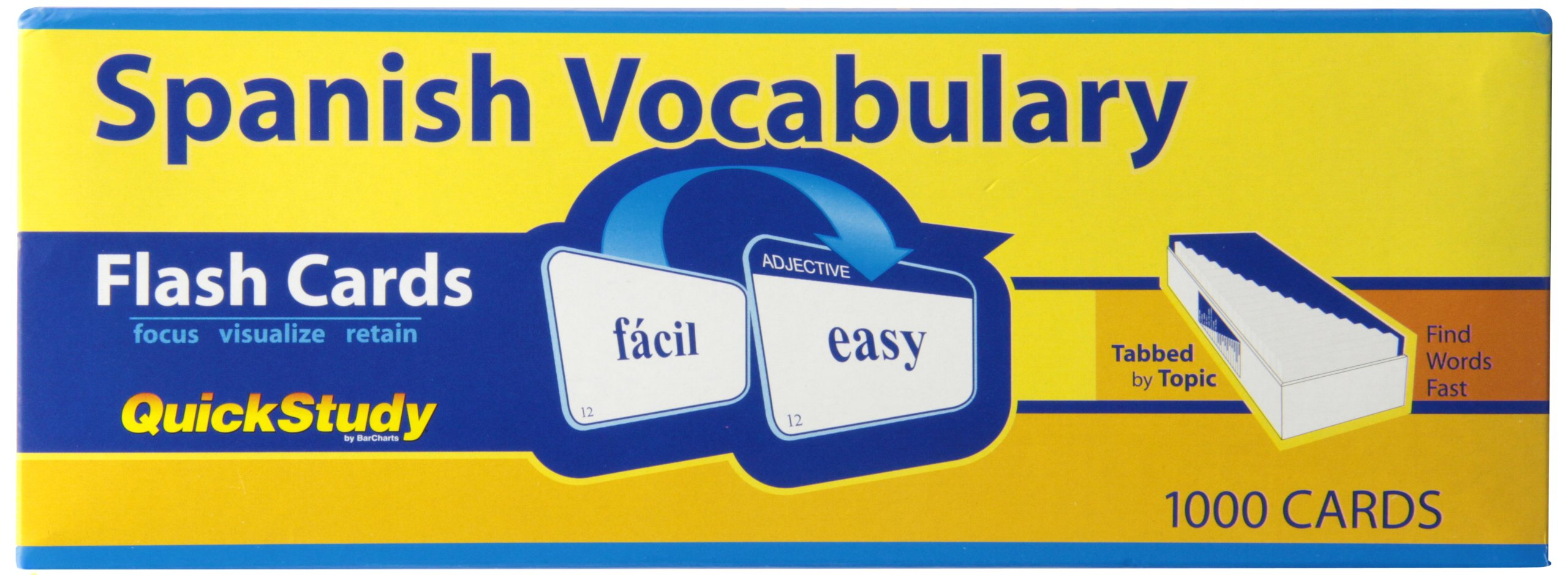 Spanish Vocabulary (Quick Study) by Brand: QuickStudy
