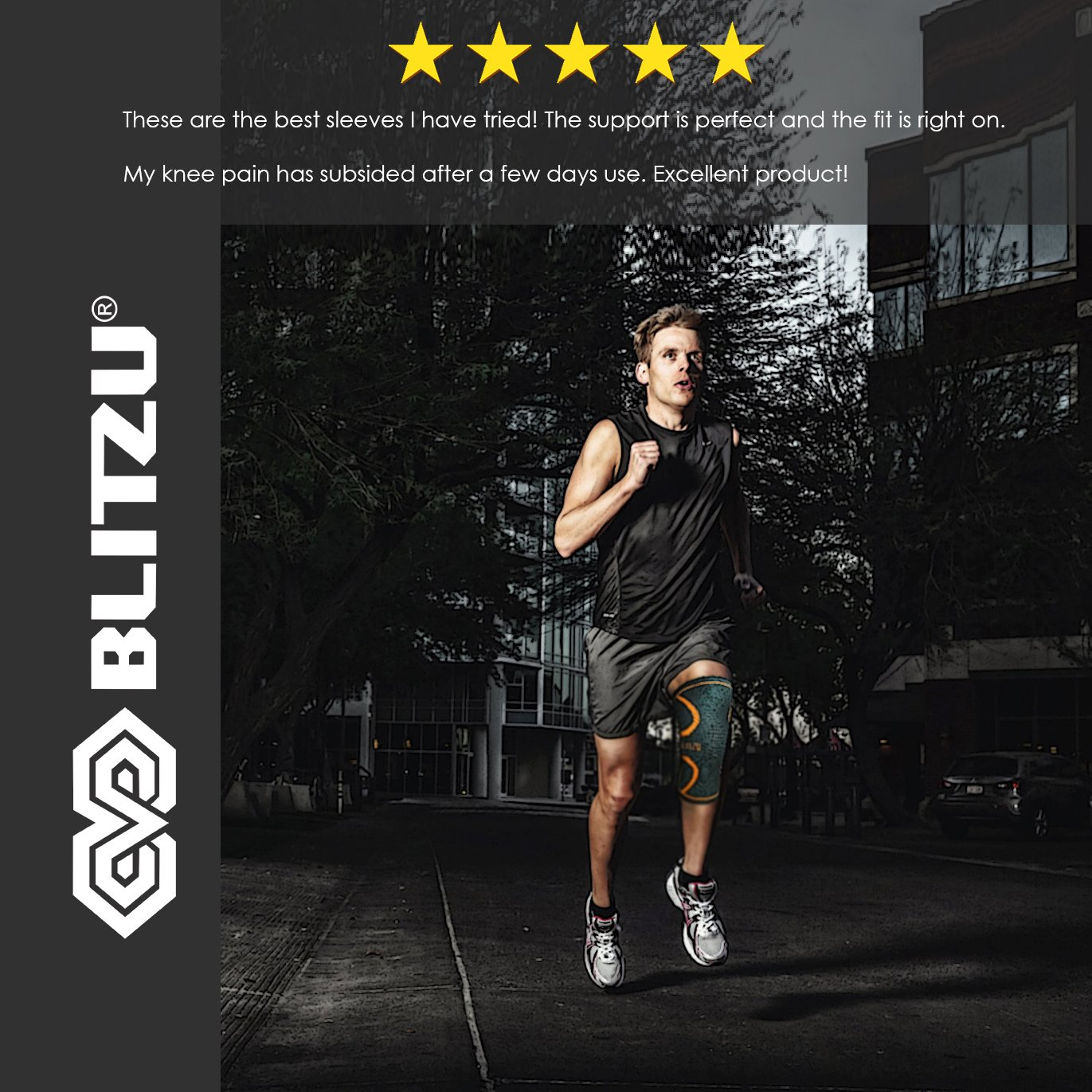 b945c7a0cf BLITZU Flex Plus Compression Knee Brace for Joint Pain, ACL MCL Arthritis  Relief Improve Circulation Support for Running Gym Workout Recovery Best  Sleeves ...