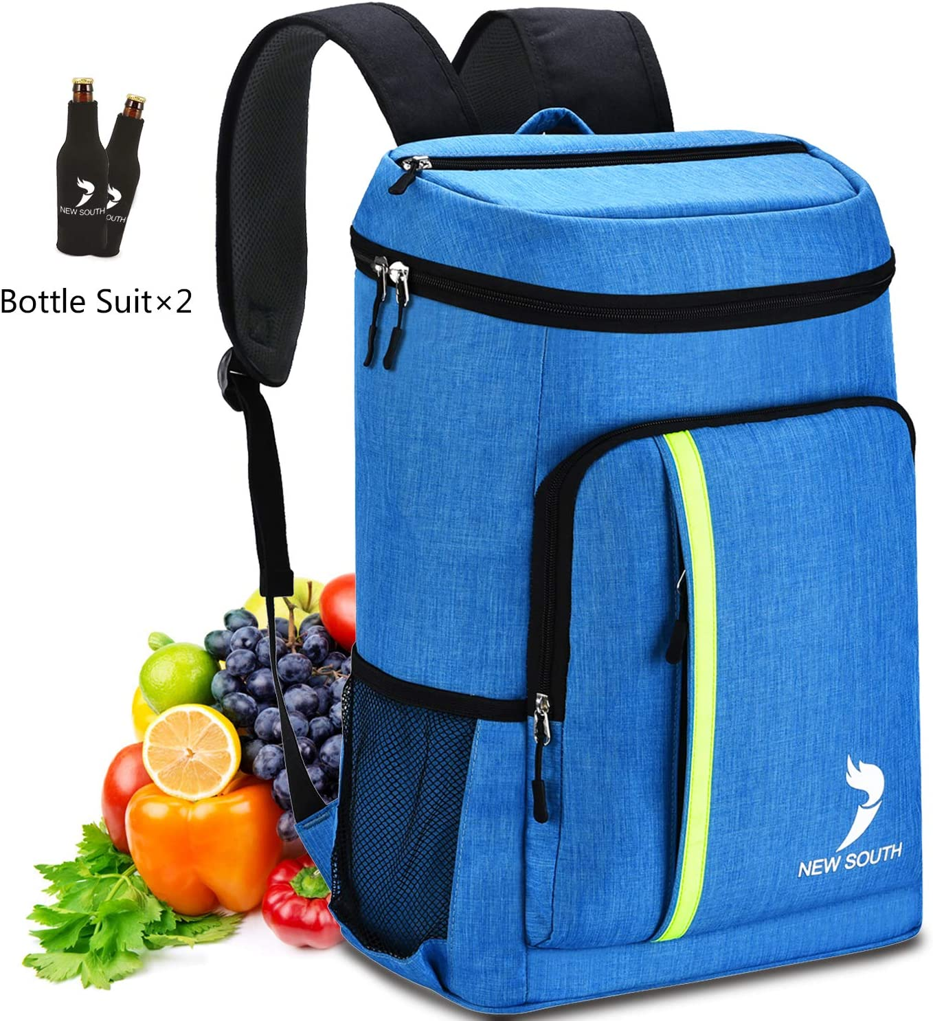 New-South Camping Backpack Cooler 30L,Blue
