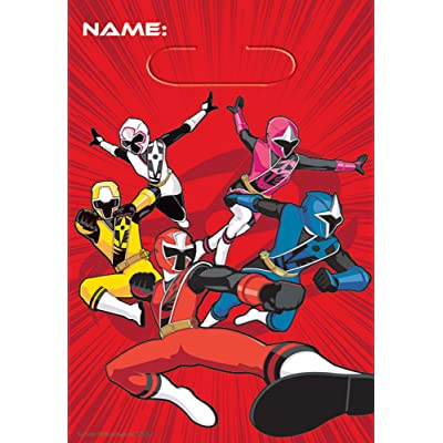 amscan - Power Rangers NS LOOT Bags - Pack of 8: Toys & Games