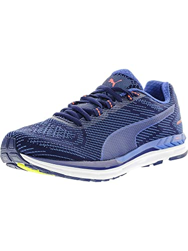 PUMA Men s Speed 600 S Ignite Blue Depths Lapis Coral Ankle-High Running  Shoe f109264bf