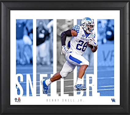 """ef28e5840ca Image Unavailable. Image not available for. Color: Benny Snell Jr. Kentucky  Wildcats Framed 15"""" x 17"""" Player Panel Collage -"""