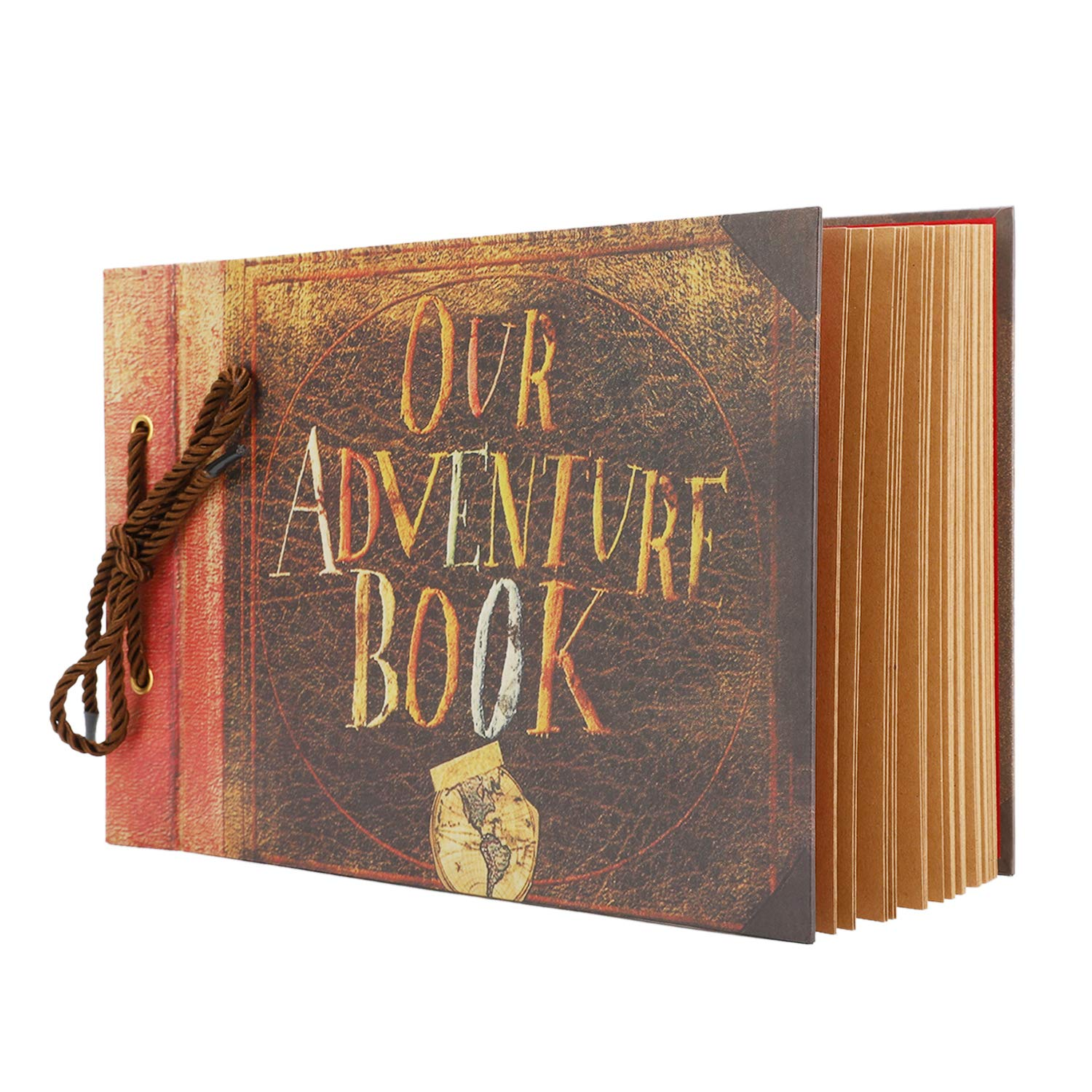 Our Adventure Book Scrapbook for Anniversary Wedding Travel Handmade Albums Scrap Book 11.6 x 7.5 Inches 40 Sheets 80 Pages Photo Album with DIY Accessories Photo Corner Stickers