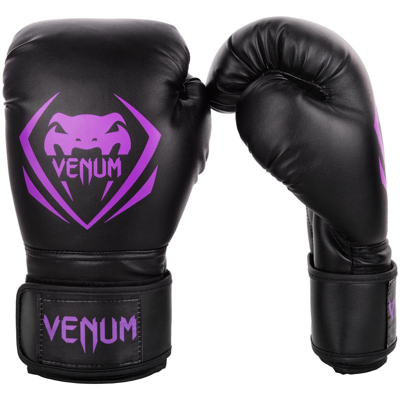 【VENUM】 ボクシンググローブ Contender (コンテンダー)(黒/パープル)  8oz