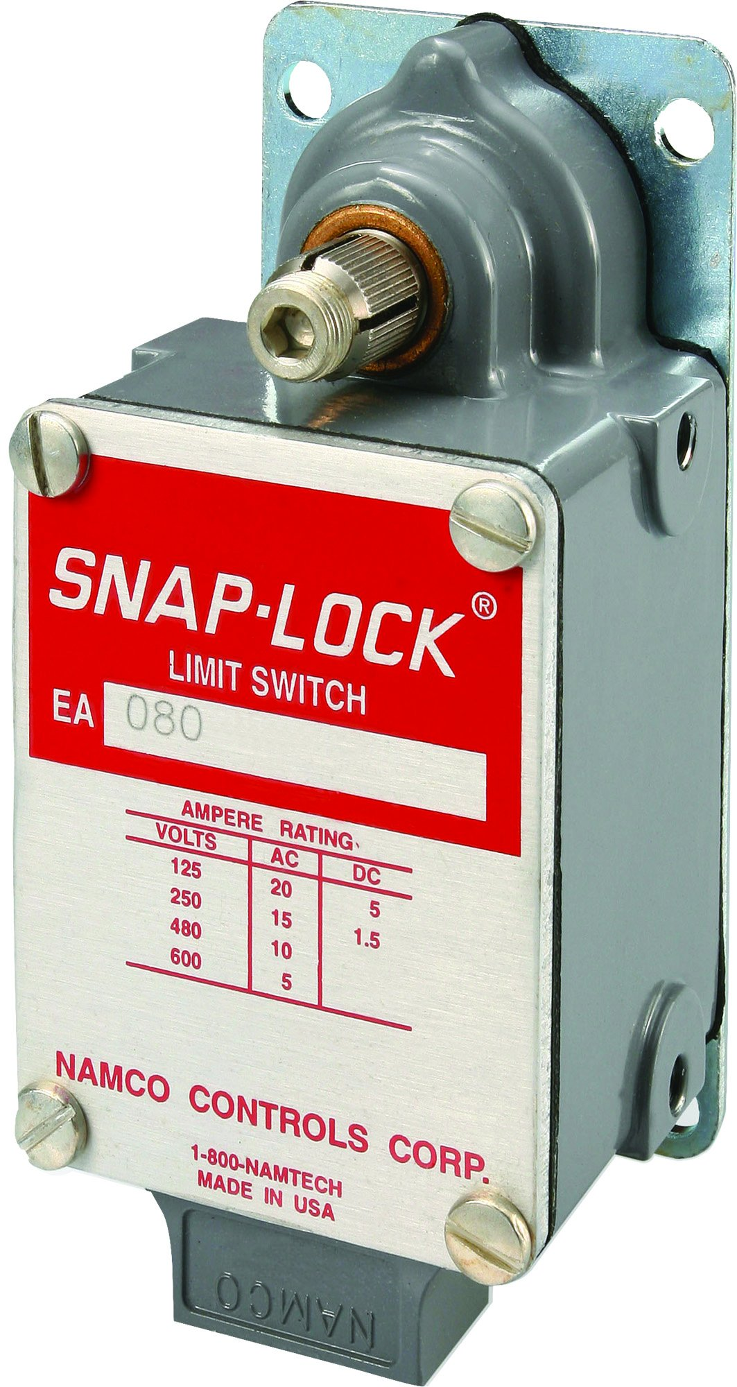 NAMCO EA080-11100 Single Pole Limit Switch, Long Mounted with Clockwise Rotation, Snap-Lock technology for heavy duty & rugged applications, part # EA080-11100