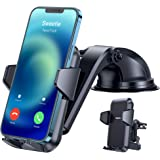 【Ultra-Durable】 Phone Holder for Car,【Non Block Safe Driving View】 4 in 1 Phone Car Holder for Dash/Windshield/AC Vent/Desk f