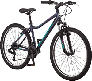 Schwinn High Timber Youth/Adult Mountain Bike, Aluminum and Steel Frame Options, 7-21 Speeds Options, 24-29-Inch Wheels, Multiple Colors