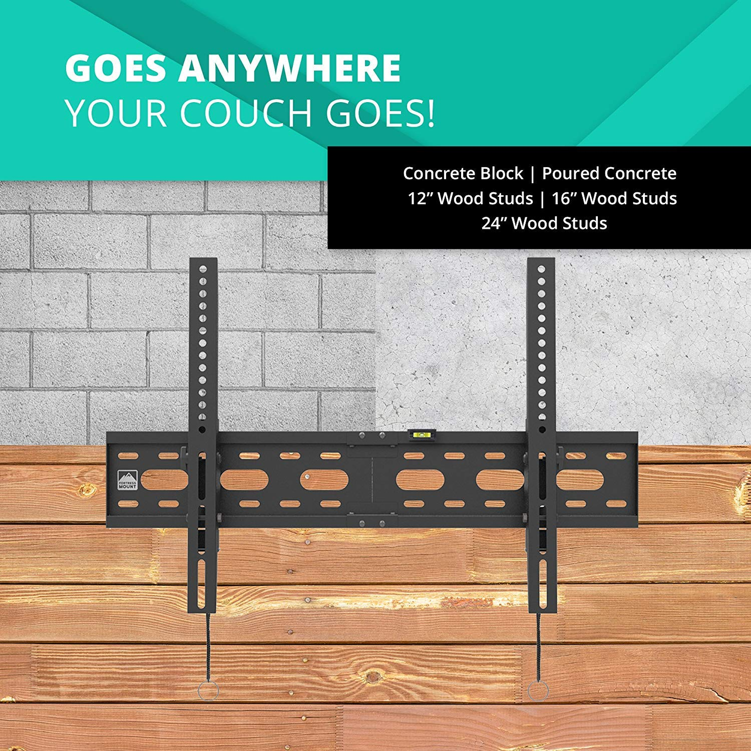Fortress Mount TV Wall Mount for Most 40-75'' TVs up to 165 lbs and 9-feet HDMI Cable by Fortress Mount (Image #6)