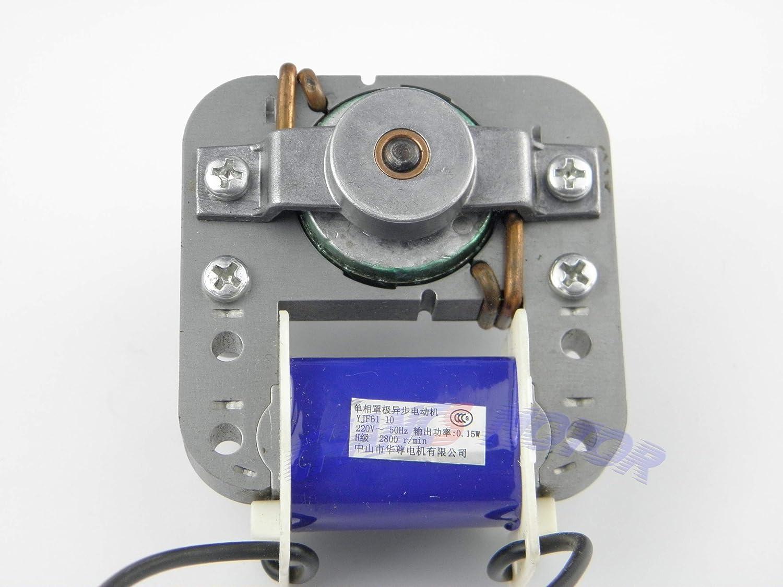 motor YJ48 Motor as/íncrono de 220 VCA Baja velocidad alrededor de 12 W alrededor de 1900 rpm//min Alta velocidad alrededor de 15 W 2100 rpm//min Motor del ventilador