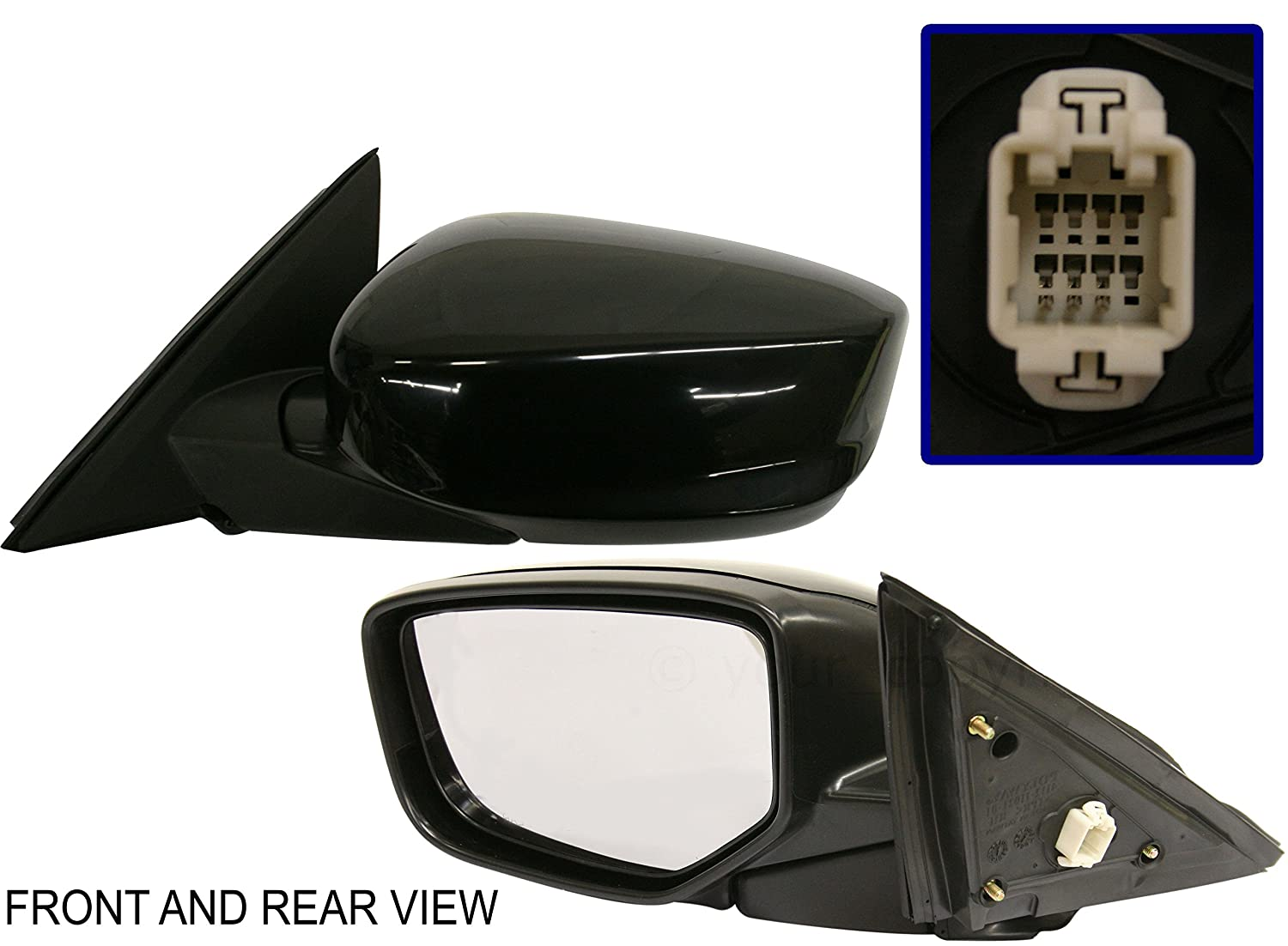FOLDING US Auto Parts POWER HONDA ACCORD 08-12 SIDE MIRROR LEFT DRIVER KOOL-VUE NEW