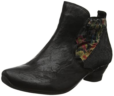 Think Damen SAMMAS_181092 Desert Boots, Schwarz (Sz/Kombi 09), 39.5 EU