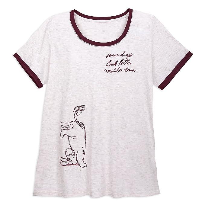 d97e390a Disney Eeyore Ringer T-Shirt Women - Winnie The Pooh Size Ladies XS Neutral