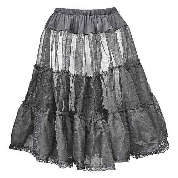 Traje de neopreno para mujer negro falda de canasta de Petticoat y ...
