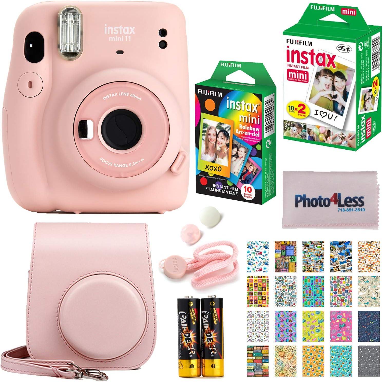 Blush Pink /& Mini Instant Film 20 Blatt Wei/ß instax Mini 11 Camera 2X 10 Blatt