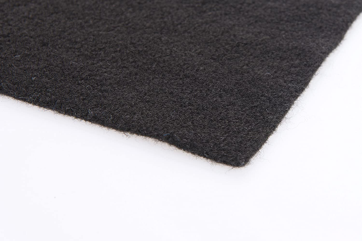 1m x 2m Black Coloured Super Stretch Van Lining Carpet Including 1 x Trimfix Glue